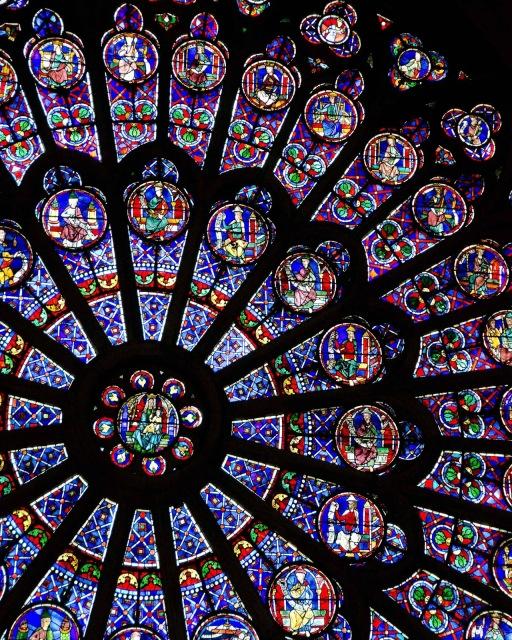 Notre Dame Window by Jeanne Selep