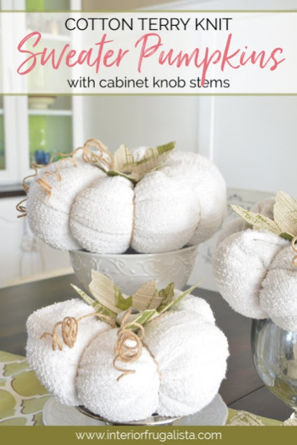 Cotton Terry Knit Sweater Pumpkins For Fall